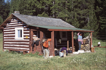 cabin on Trail Creek